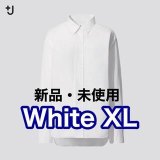 ジルサンダー(Jil Sander)のユニクロ ジルサンダー スーピマコットンオーバーサイズシャツ White XL(シャツ/ブラウス(長袖/七分))