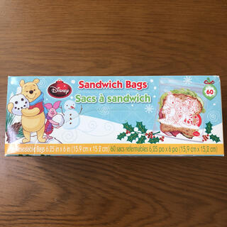 クマノプーサン(くまのプーさん)の【新品】くまのプーさん サンドイッチバッグ(収納/キッチン雑貨)