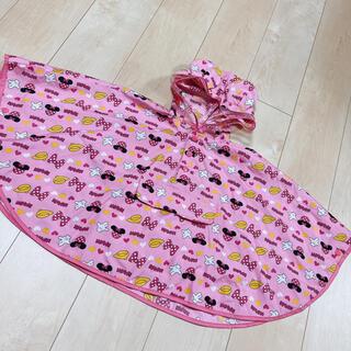 ディズニー(Disney)のミニー レインコート 100 ポーチ型 ピンク(レインコート)