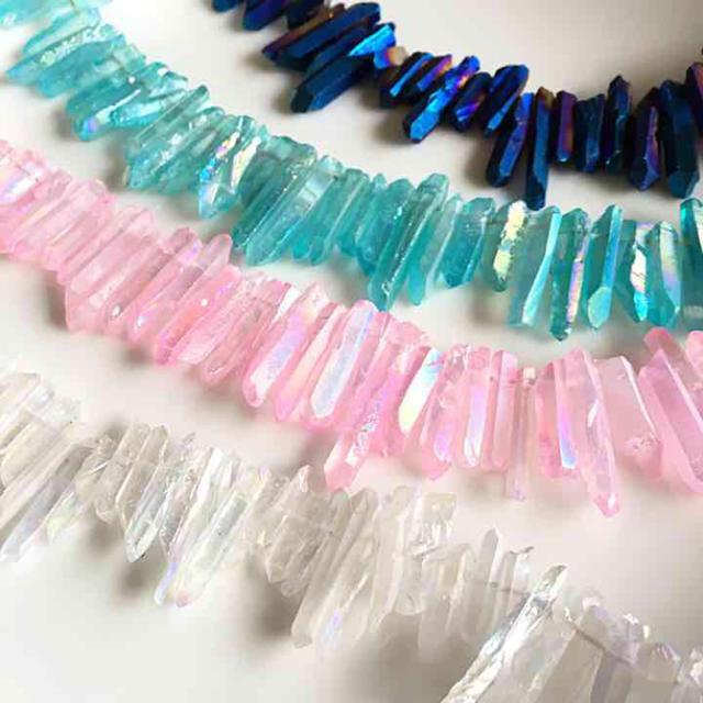 10本入り氷柱クリスタル/ブルー  ハンドメイドの素材/材料(各種パーツ)の商品写真
