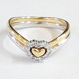スタージュエリー(STAR JEWELRY)のスタージュエリー・K18コンビリングinダイヤモンド(リング(指輪))
