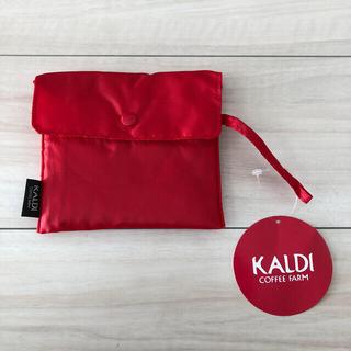 カルディ(KALDI)のカルディ エコバッグ 赤(エコバッグ)