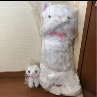新品 未使用 猫のロンデル ねころんでる ぬいぐるみ 白猫(ぬいぐるみ)