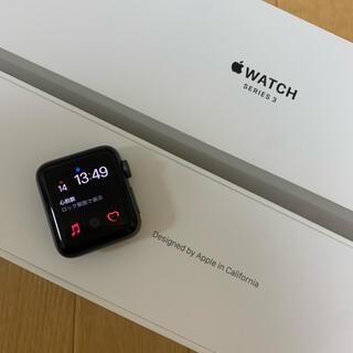 アップル(Apple)のApple Watch3 ブラック(腕時計(デジタル))