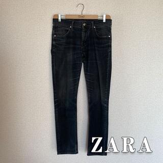 ザラ(ZARA)のZARA ストレート ブラックジーンズ (デニム/ジーンズ)