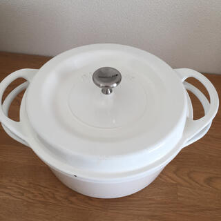 バーミキュラ(Vermicular)のmm様 専用  バーミキュラ 22cm  パールホワイト (鍋/フライパン)