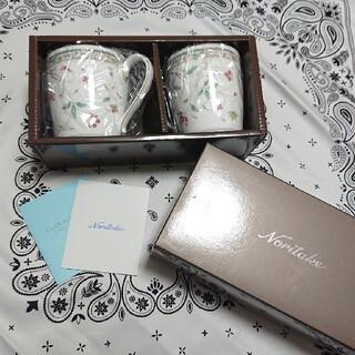 ノリタケ(Noritake)のNoritake 花更紗 マグカップペアセット(グラス/カップ)