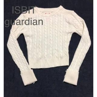 アイズビットガーディアン(ISBIT GUARDIAN)のアイズビットガーディアン リボン付きケーブルニット(ニット/セーター)