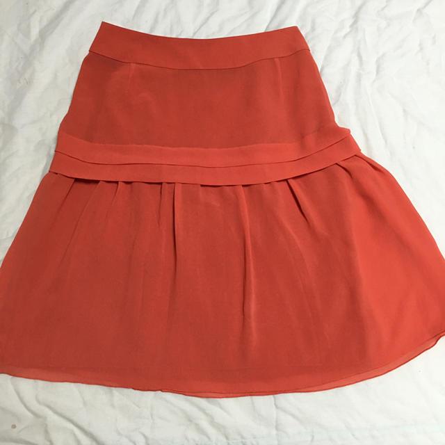 INDIVI(インディヴィ)のインディヴィオレンジスカート レディースのスカート(ひざ丈スカート)の商品写真