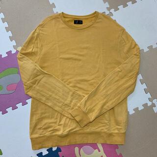 ザラ(ZARA)のZARA トレーナー USED 古着風 yellow 黄色 メンズ ビック(スウェット)
