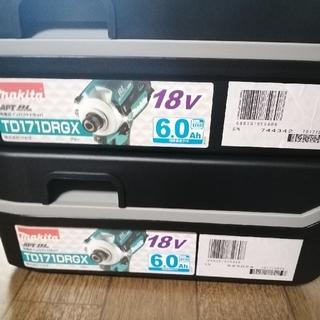マキタ(Makita)のMakitaマキタTD171Dインパクトドライバー 18v 6A 2台新品未使用(工具)