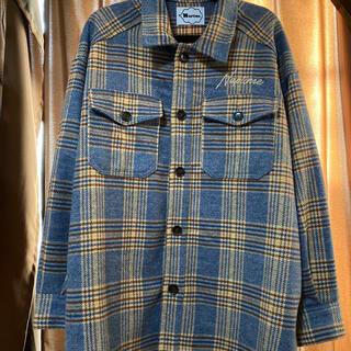トリプルエー(AAA)のNissy Naptime オーバーサイズチェックシャツ ブルー(ミュージシャン)