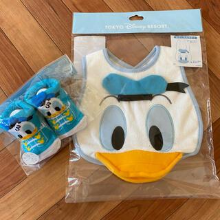 ディズニー(Disney)のドナルドダック スタイ 靴下 ベビー 赤ちゃん(その他)