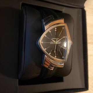 ベンチュラ(VENTURA)の人気品! HAMILTON ベンチュラ H244110 エルビスプレスリー 黒銀(腕時計(アナログ))