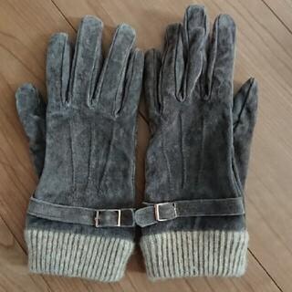 皮風生地の手袋(手袋)