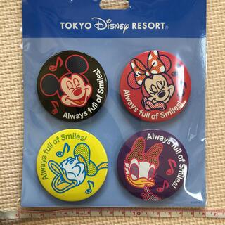 ディズニー(Disney)のディズニー 缶バッジ ミッキー ミニー ドナルド デイジー スマイル(キャラクターグッズ)