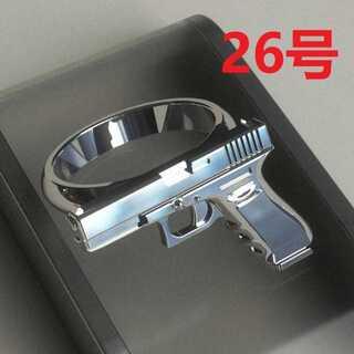 リアル感抜群 銃 ガン ベレッタ モチーフ シルバー リング 指輪 26号(リング(指輪))