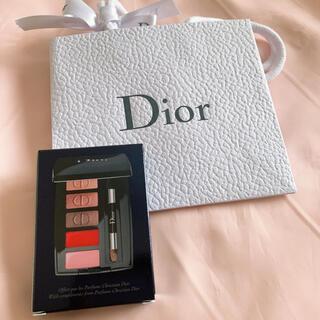 ディオール(Dior)のDior ノベルティ ミニメイクアップパレット リップ アイシャドウ(コフレ/メイクアップセット)