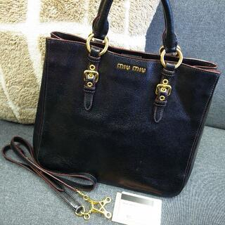 miumiu - 正規品☆ミュウミュウ マドラス 2wayバッグ 黒 バッグ 財布 小物