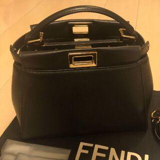 FENDI - 新品 フェンディ ミニピーカブー アイコニック ナッパ 黒 ブラック