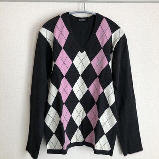 BURBERRY BLACK LABEL - バーバリーブラックレーベル アーガイル柄ニット セーター