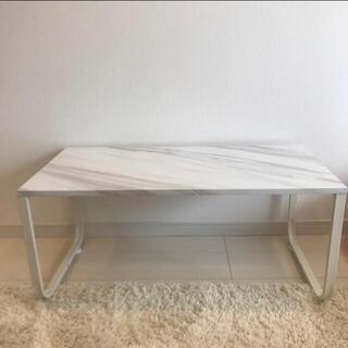 テーブル 大理石風 韓国風(ローテーブル)