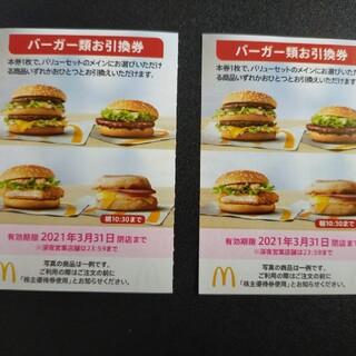 マクドナルド 株主優待(レストラン/食事券)