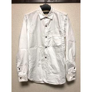 ウェストトゥワイス(Waste(twice))のWASTE TWICE ウエストトゥワイス ワークシャツ 白 デザイン シャツ(シャツ)