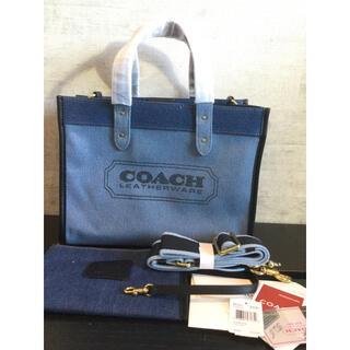 COACH - 新品 COACH デニムバッグ 89163 ショルダーバッグ デニムレザー