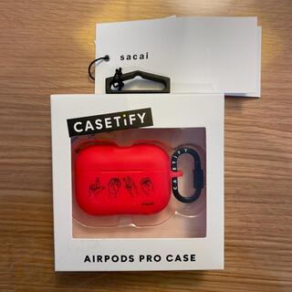 サカイ(sacai)のSacai Airpods Pro case(LOVE RED)(ヘッドフォン/イヤフォン)
