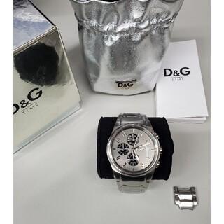 DOLCE&GABBANA - 訳あり未使用品 ドルガバ 「サンドパイパー」 クロノグラフ メンズ腕時計 D&G