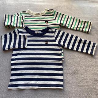 ミキハウス(mikihouse)のミキハウス ボーダーTシャツ 長袖 男の子女の子(Tシャツ)