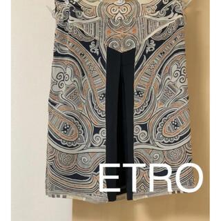 エトロ(ETRO)のETROエトロ シルクスカート シルク100% 新品タグ付き(ひざ丈スカート)