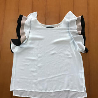 ヘザー(heather)の袖フリル カットソー(カットソー(半袖/袖なし))