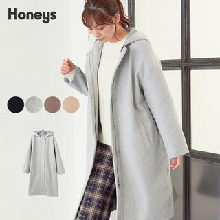 ハニーズ(HONEYS)の土日限定価格 新品 ハニーズ フードコート ロングコート LL(ロングコート)