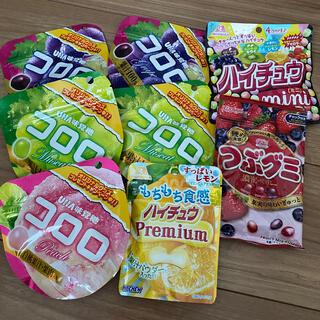 ユーハミカクトウ(UHA味覚糖)のコロロ ハイチュウ つぶグミ 8袋 お菓子まとめ売り(菓子/デザート)