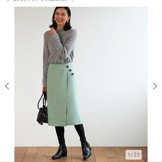 プラステ(PLST)の プラステ ウールブレンドリバーシブル2WAYスカート (ひざ丈スカート)