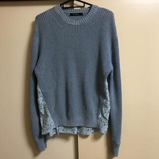 ダブルクローゼット(w closet)の☆w closet☆バックレース切り替えニット(ニット/セーター)