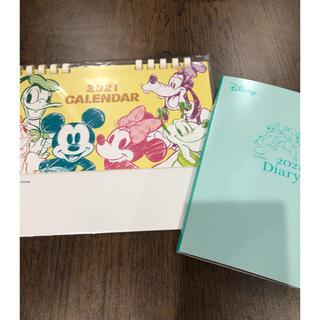 ディズニー(Disney)のディズニー 卓上カレンダー &  手帳(カレンダー/スケジュール)