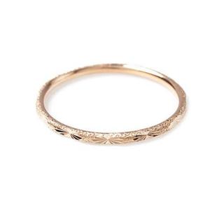 エテ(ete)の美品★ete クレール カットk10 リング ピンクゴールド スターダスト(リング(指輪))