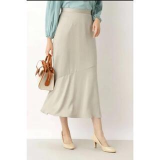 NATURAL BEAUTY BASIC - Natural beauty bacis サテンマーメイドスカート