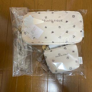 gelato pique - gelato pique あつ森  キャラクター柄ポーチセット ベージュ