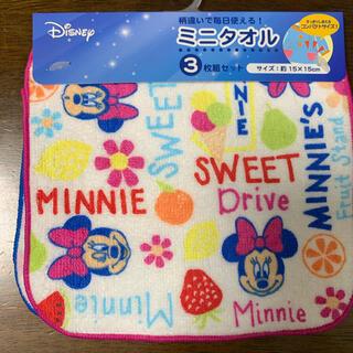 ディズニー(Disney)の⭐︎新品未使用⭐︎ ミニー ミニタオル 3枚セット(タオル/バス用品)