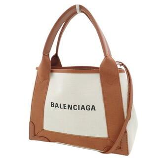 Balenciaga - バレンシアガトートバッグ ネイビーカバXS ベージュ 茶 40800065087