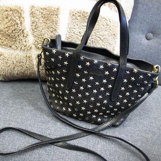 JIMMY CHOO - 正規品☆ジミーチュウ サラ 2wayバッグ ミニ 黒 星スタッズ バッグ 財布