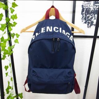 Balenciaga - 正規品☆バレンシアガ バックパック リュック ホイール ネイビー バッグ 財布