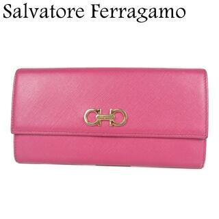 サルヴァトーレフェラガモ(Salvatore Ferragamo)のサルヴァトーレ フェラガモ ガンチーニ レザー 二つ折り 長財布(財布)