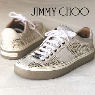 JIMMY CHOO - ジミーチュウ マイクロスタッズ スウェードレザースニーカー