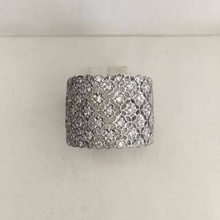 ダイヤモンド 透かしパヴェ リング Pt900 0.50ct 12.4g(リング(指輪))