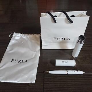 フルラ(Furla)のフルラ ボールペン ホワイト ケース付き(ペン/マーカー)